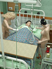Caught and fucked by shemale nurses