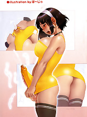 Blow that big futanari anime cock