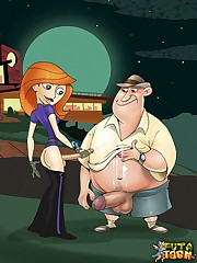 Futanari Kim Possible and her horny fuckmates