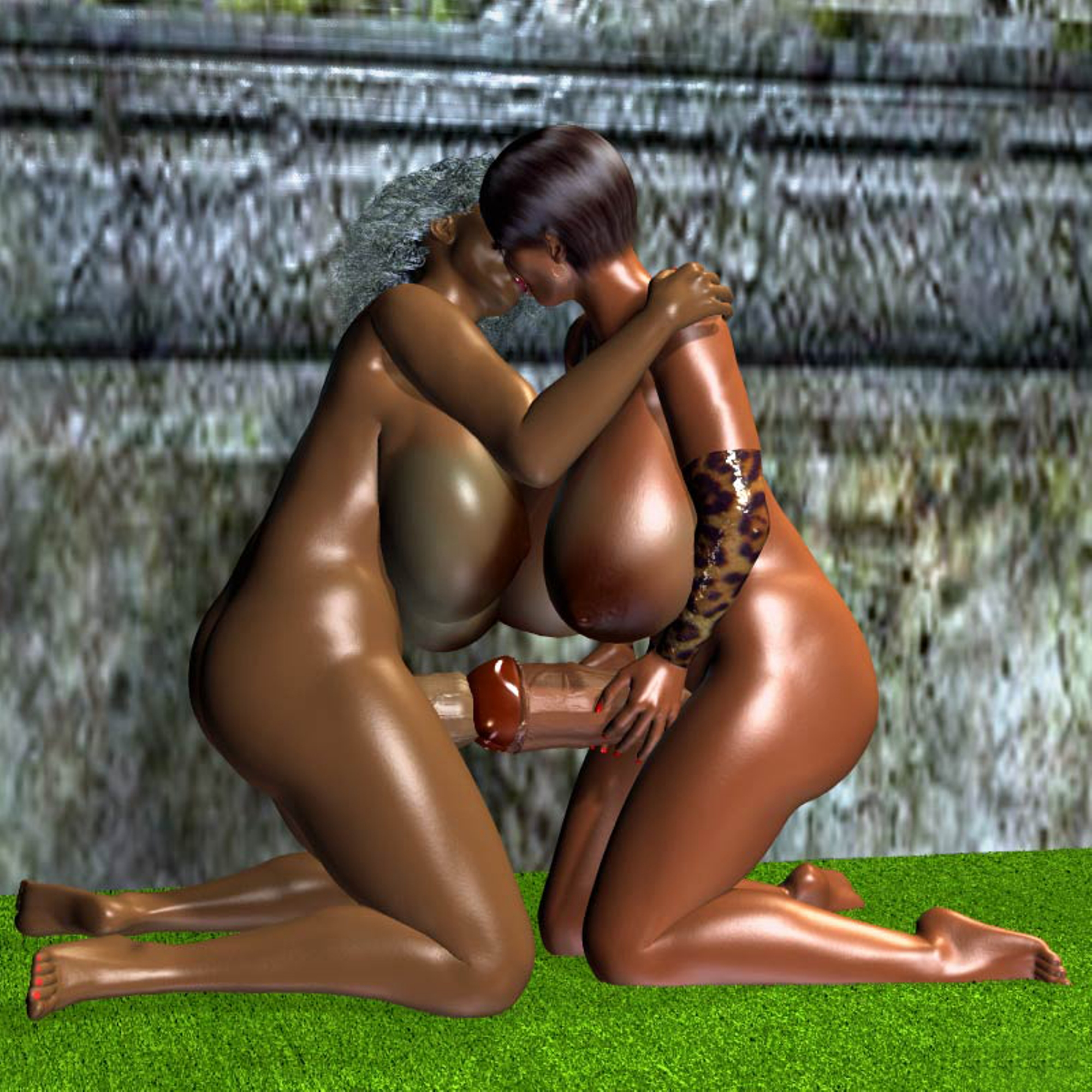 3d monster futanari naked clip